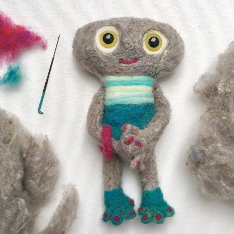 Marfa  One-Of-A-Kind Needle Felted Creature image 0