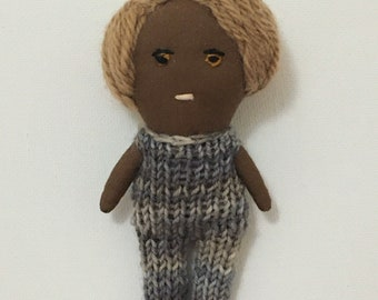 Tiny Handmade Waldorf Doll - Karen