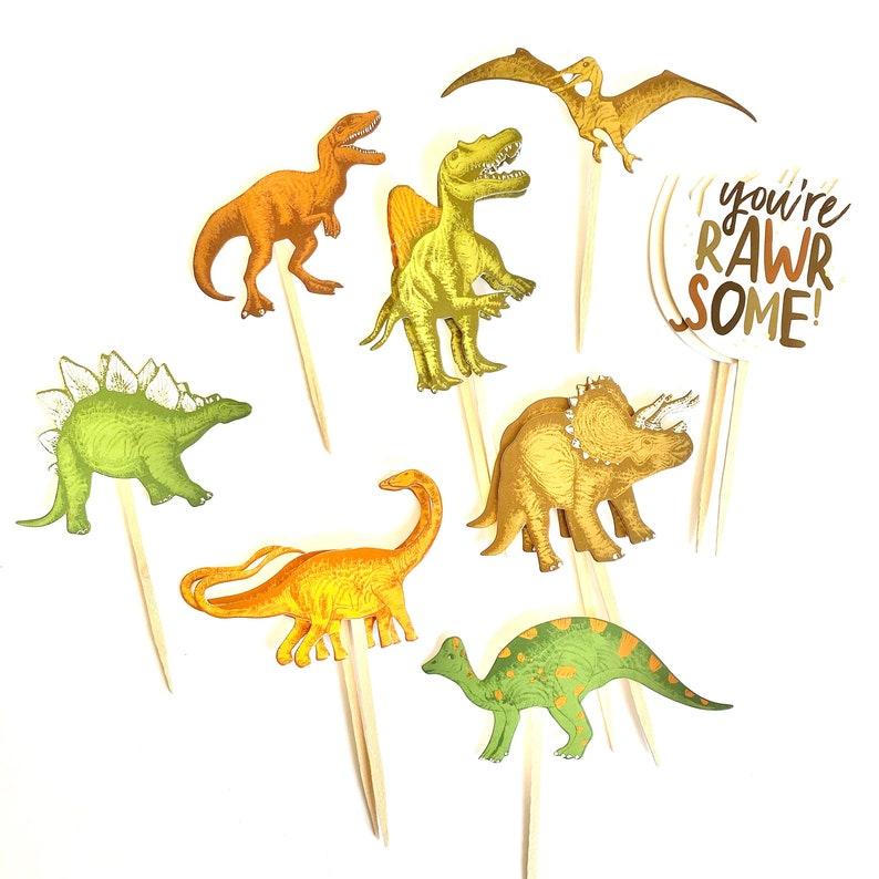 Dinosaur Cupcake Toppers. Dinosaur Party. Dinosaur Party image 0