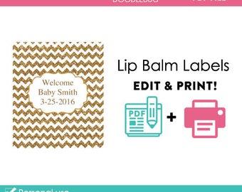 image regarding Free Printable Lip Balm Label Template identify Lip balm labels Etsy