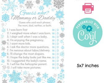photograph regarding Winter Trivia Questions and Answers Printable named Mommy or daddy quiz Etsy