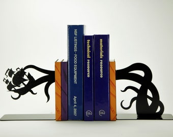 Tentacle Pirate Ship Bookends