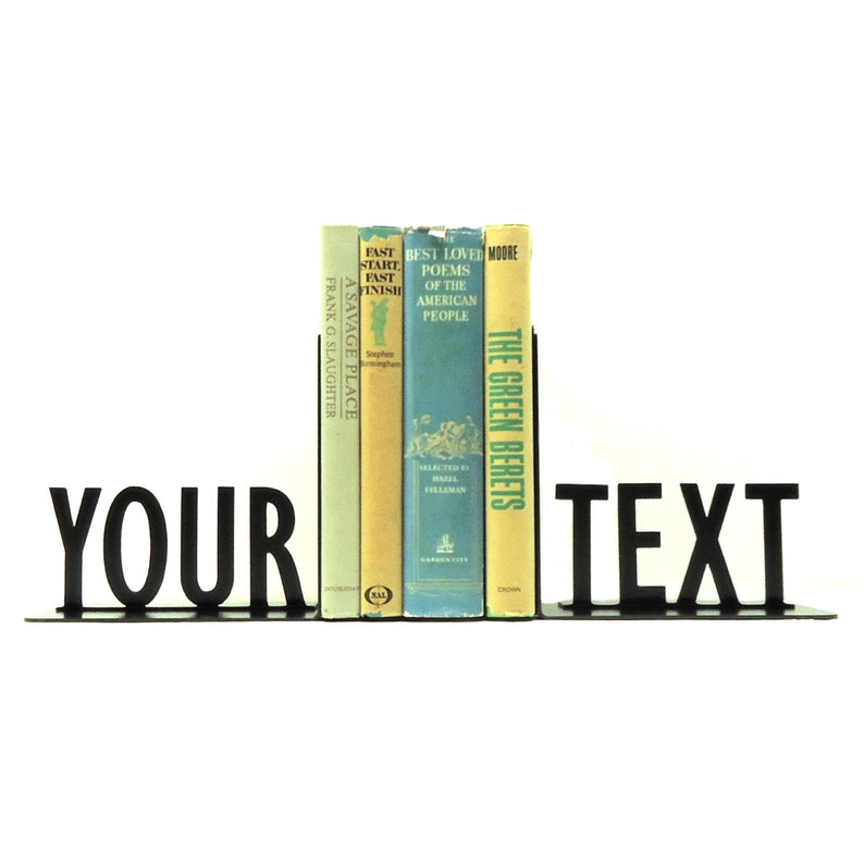 Personalized Text Bookends image 0