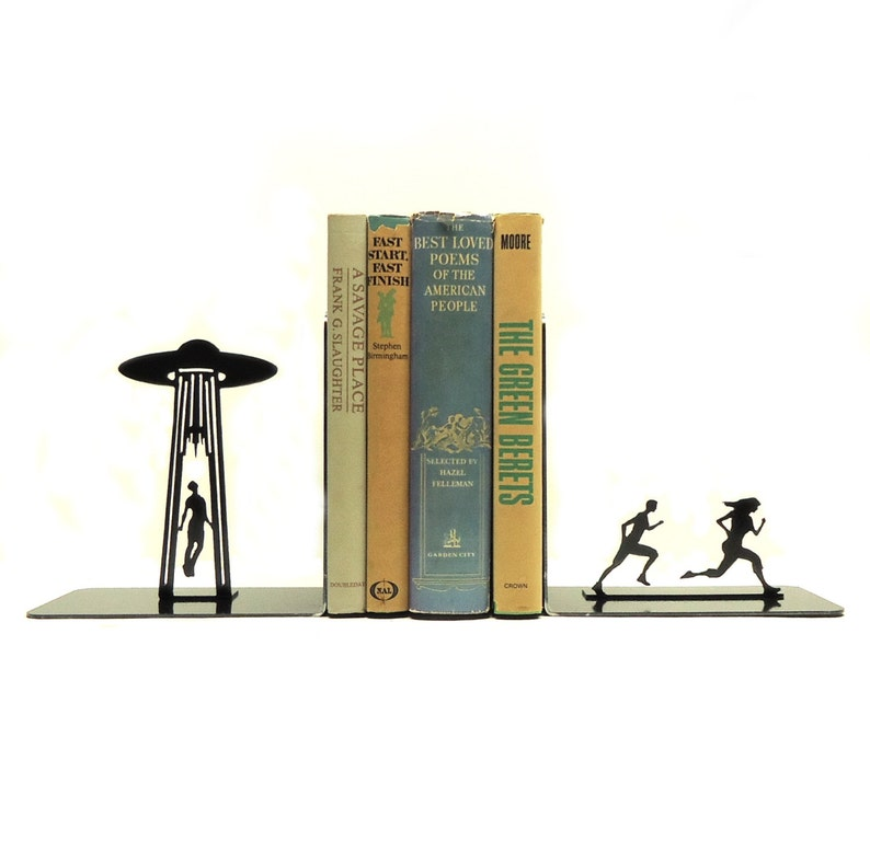 UFO Abduction Bookends image 0