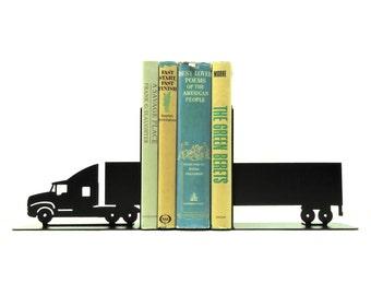Semi Tractor Trailer Bookends
