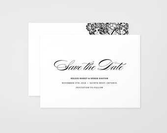 The 'Willow' Romantic Calligraphy Save the Date Announcement (Printable)