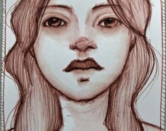 Original Pen and ink watercolor sketch #1