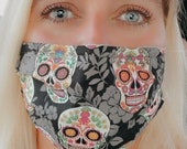 Your Favorite Face Mask - High Quality, Comfortable, Reusable - Sugar Skulls