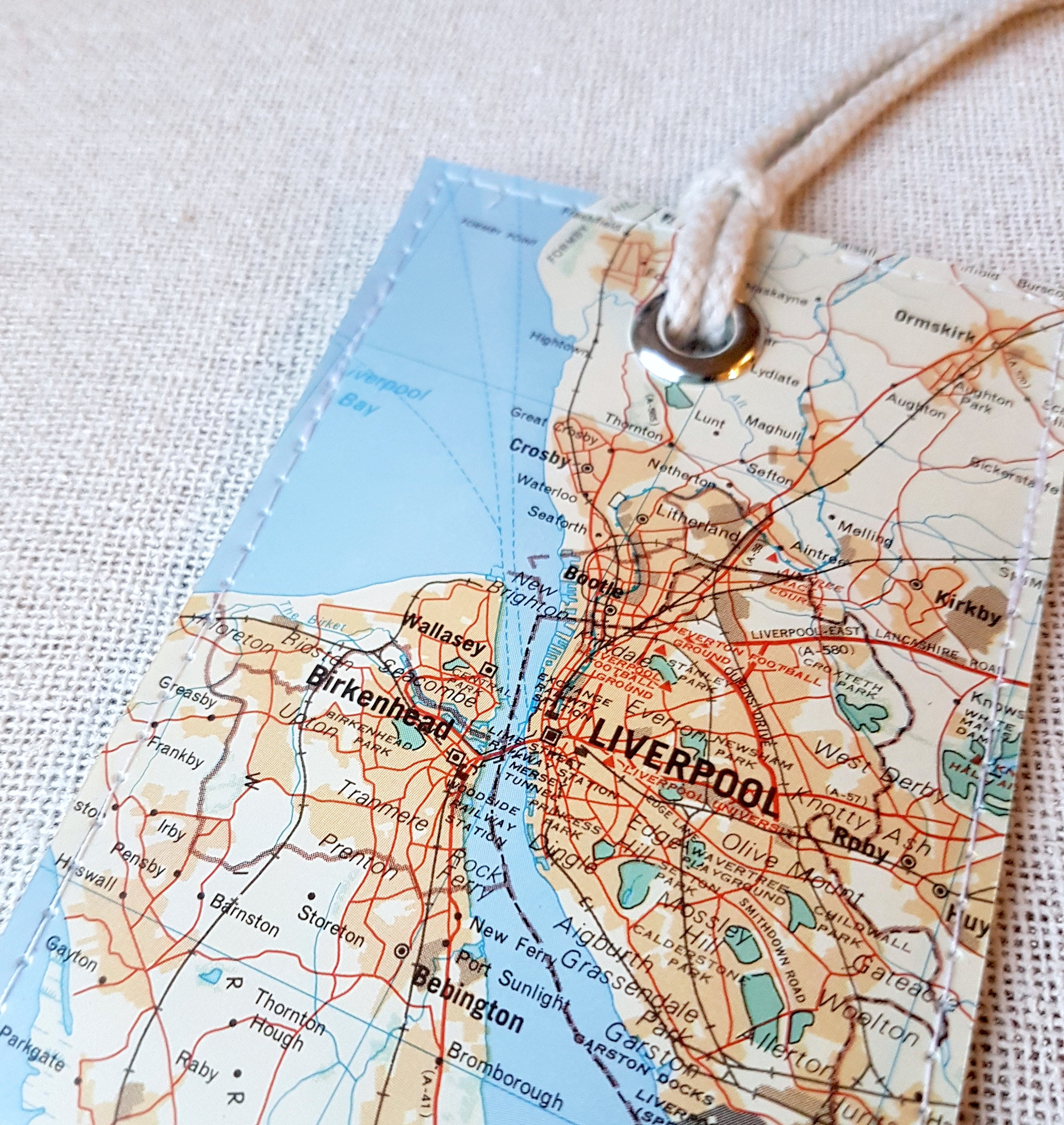 Everton England Map.Liverpool England Luggage Tag Made With Original Vintage Map Etsy