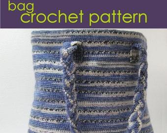 Sock Yarn Crocheted Bag, Crochet  Pattern PDF