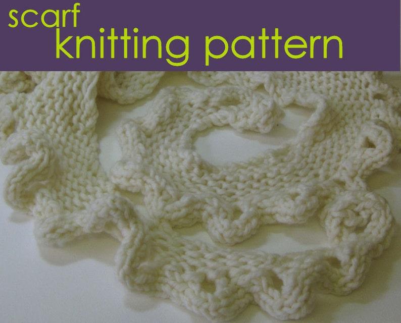 Big Ruffle Scarf Knitting Pattern Frilly Scarf Knitting Etsy
