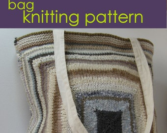 SAVE 20% Three Tote Bag Knitting Patterns, PDF instant downloads