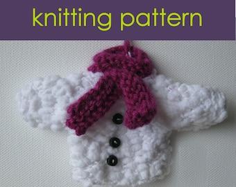 Mini Christmas Sweaters Knitting Pattern, Knitted Christmas Decorations, Knitting Pattern PDF