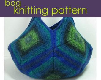 Felted Market Bag Knitting Pattern, Knitted Bag, Knitting Pattern PDF