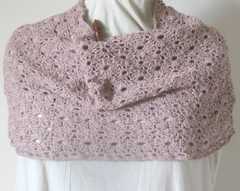 Crochet Flower Lace Cowl Pattern, Lace Cowl, Crochet Cowl, Crochet Pattern PDF