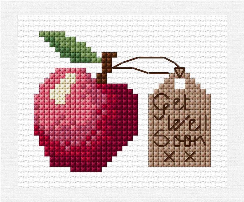 Картинки вышивание крестиком яблоко