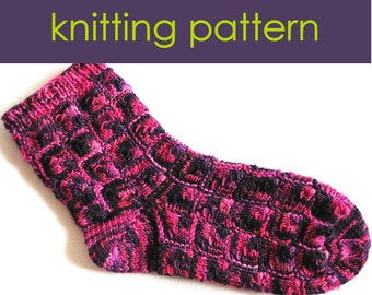 Mitred Square Socks Knitting Pattern, Knitted Socks, Knitting Pattern PDF