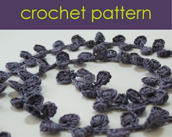Crochet Shell Necklace Pattern, Crochet Jewellery, Crochet Pattern PDF