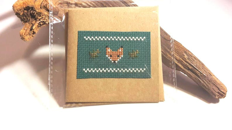 Custom/Personalised Cross Stitch Greetings or Birthday Card image 0