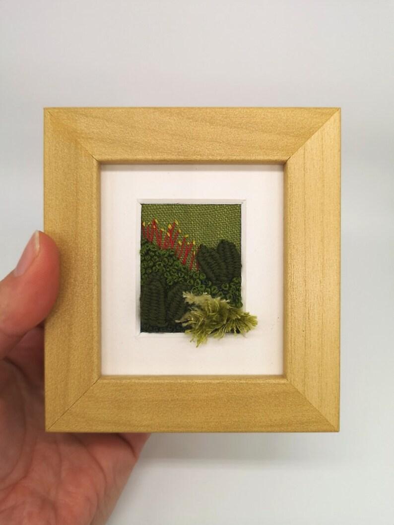 Handmade Moss Embroidery  Framed image 0