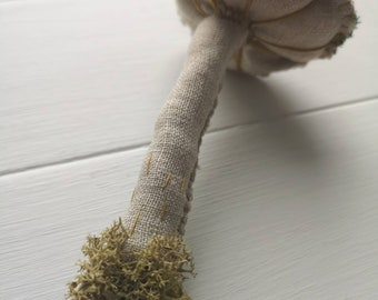 Handmade Textile Hanging Toadstool Mushroom