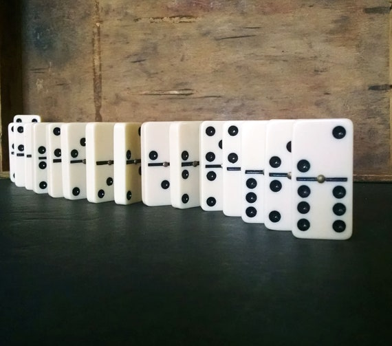 Vintage Domino Tiles Home Decor Collection Dominoes Craft Supplies