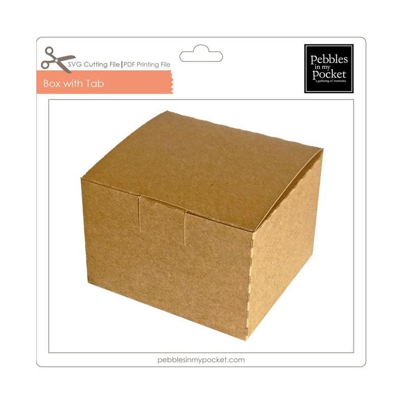 Box with Tab Digital Download SVG /& Pdf