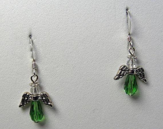 Small Green Angel Earrings SKU: ER1049