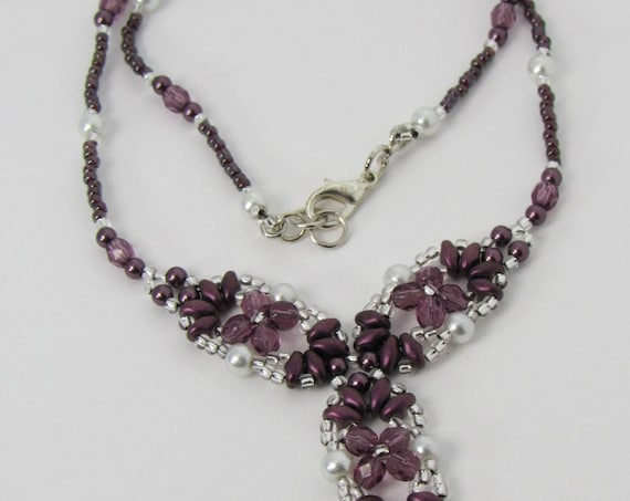Y Shaped Necklace – Shades of Purple Sku: NK1019