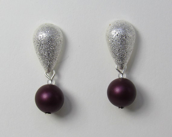 Burgundy Pearl Earrings SKU: ER24