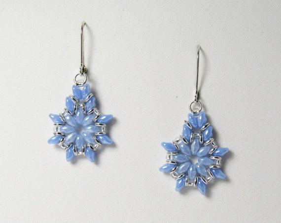 Light Blue Drop Dangle Earrings    SKU: ER 1031