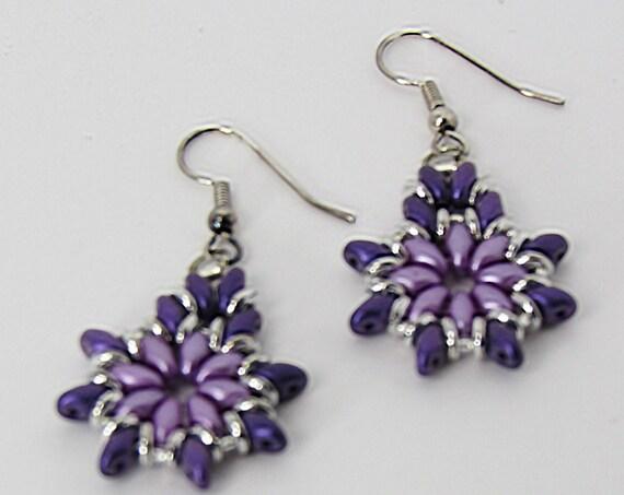 Purple Teardrop Dangle Earrings   Sku: ER1030