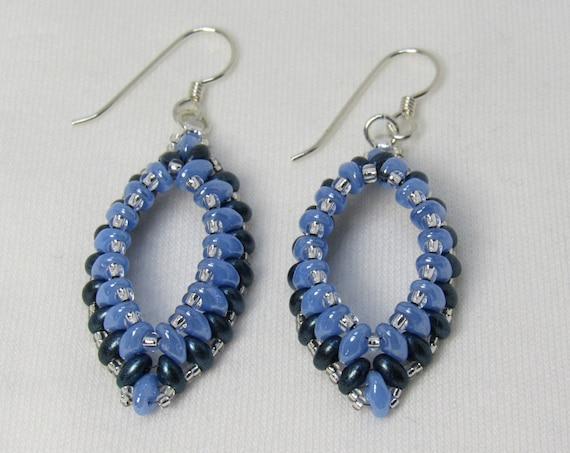 Light Blue & Dark Blue Earrings SKU: ER03