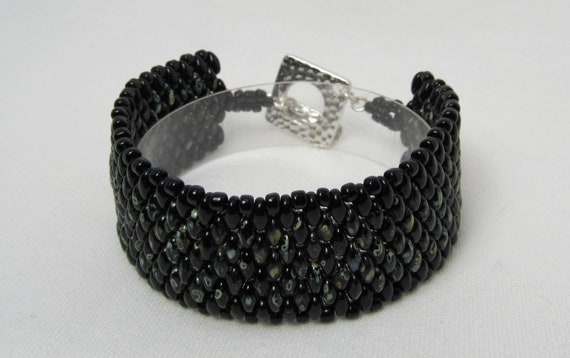 Black Stitch Beaded Bracelet SKU: BR09