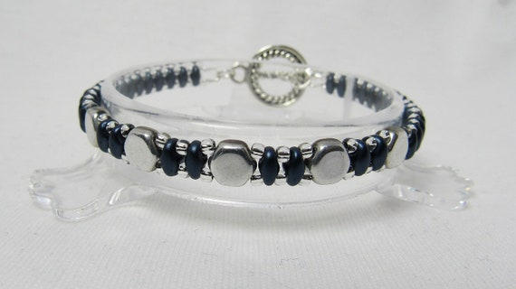 Navy and Silver Bracelet SKU: BR1041