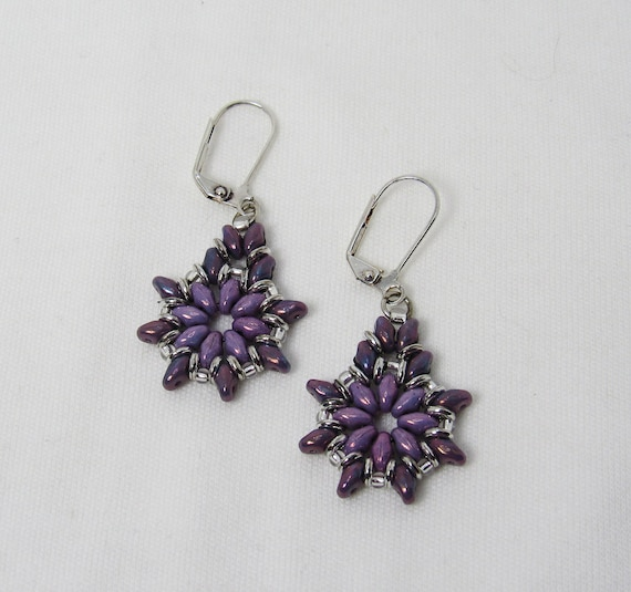 Shades of Purple Teardrop Shape Earrings SKU: ER25