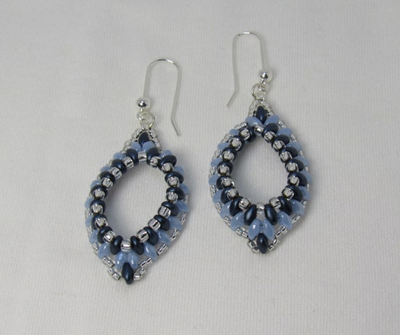 Dark Blue & Light Blue Earrings SKU: ER01