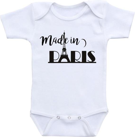 Made In Paris Onesie Brand Gerber Onesie Bodysuit Baby Shower Etsy