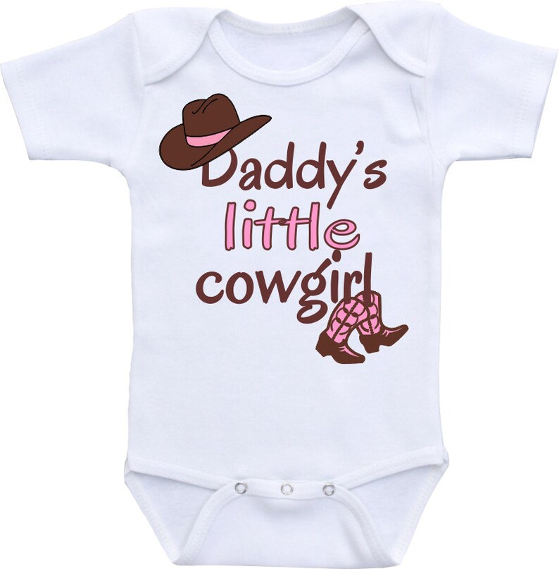9da911d14 Daddy's little cowgirl Onesie® Baby shower gift for girl | Etsy