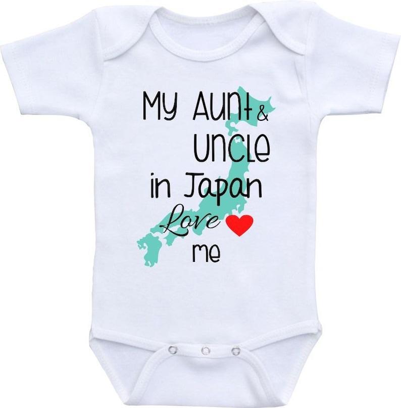 b1fb2fc1b My Aunt and Uncle in Japan Love Me Onesie® Gerber Baby Shower | Etsy