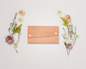 Leather Wallet - The Hazel - Natural (Veg-Tanned)