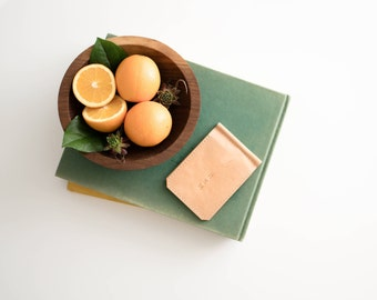 Leather Wallet - The Winston - Natural (Veg-Tanned)