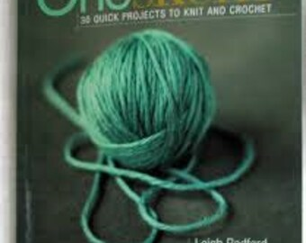 One Skein Pattern book for knit and crochet