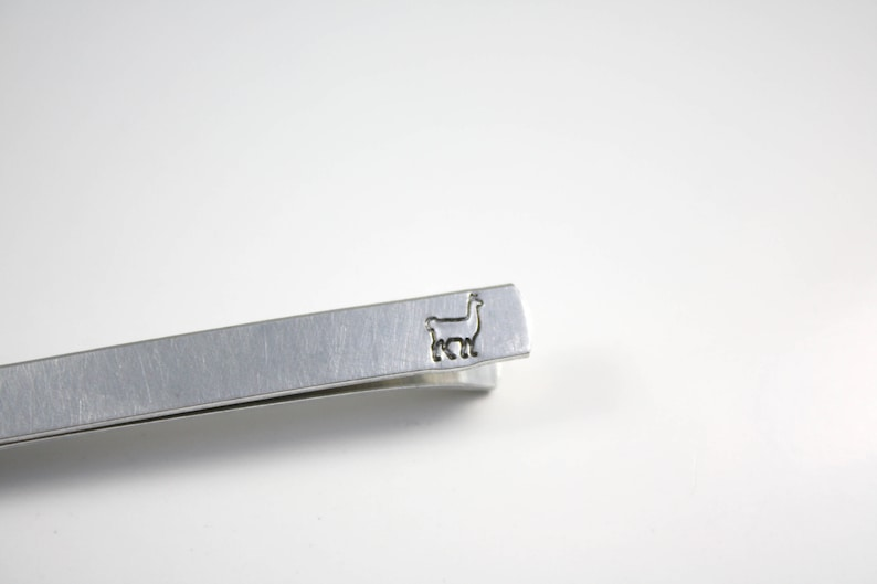 Llama Tie Bar With Hidden Message  Alpaca Tie Bar Clip image 0