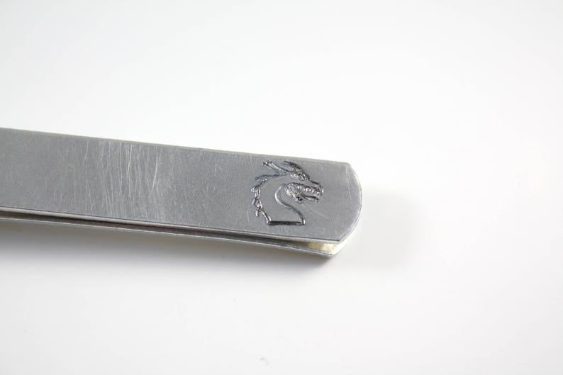 Dragon Tie Clip With Hidden Message image 0