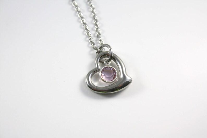 June Birthstone Necklace image 0