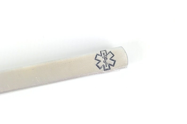 Medical Tie Clip With Hidden Message image 0