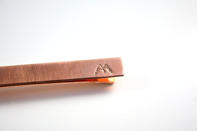 Copper Mountain Tie Bar With Hidden Message image 0