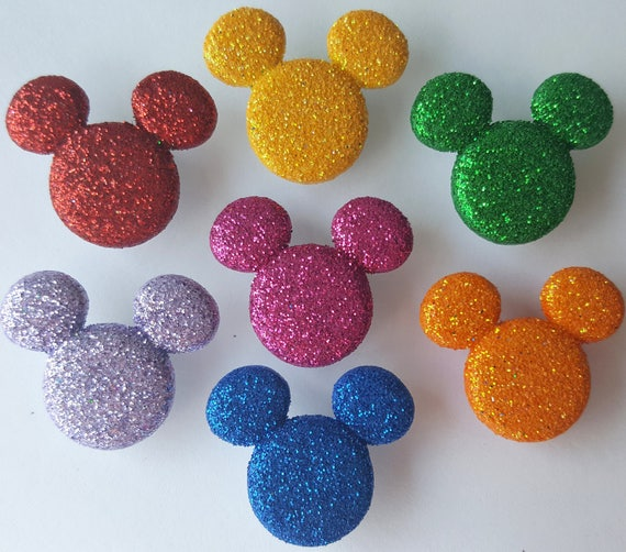 MINNIE RHINESTONE HEADS Disney Girl Mouse Glitter Bows Dress It Up Craft Buttons