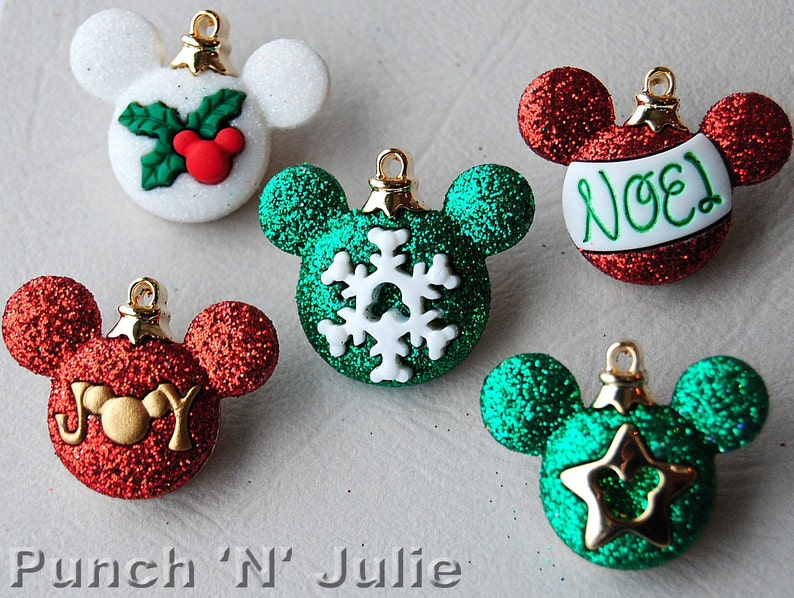Mickey Ornaments Disney Christmas Decorations Mouse Dress It Up Craft Buttons